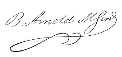 Autographs Painting - Benedict Arnold (1741-1801) by Granger