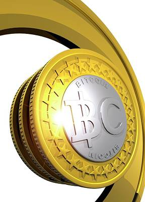 Virtual Photograph - Bitcoins by Victor Habbick Visions