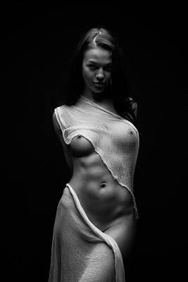 Bodyscape Art Photograph - Black Milk by Anton Belovodchenko