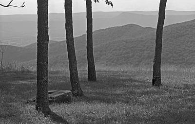 Photograph - Blue Ridge Mountains - Virginia Bw 9 by Frank Romeo