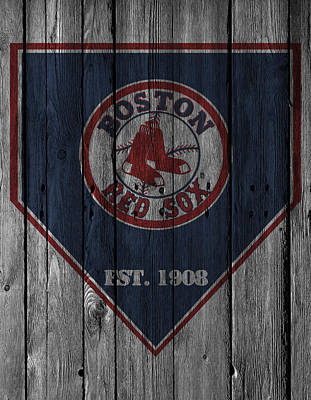 Glove Photograph - Boston Red Sox by Joe Hamilton