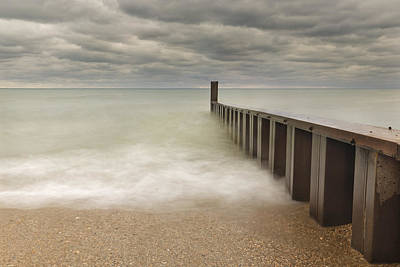 Photograph - Breakwater by Peter Lakomy