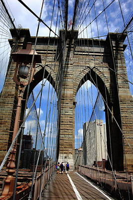 Photograph - Brooklyn Bridge - New York City 3 by Frank Romeo