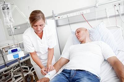 Chemotherapy Photograph - Chemotherapy Treatment by Thomas Fredberg