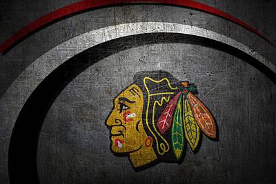 Hockey Photograph - Chicago Blackhawks by Joe Hamilton