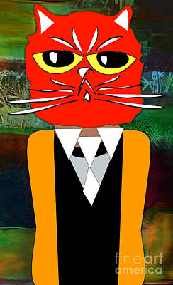 Pencil Mixed Media - Cool Cat by Marvin Blaine