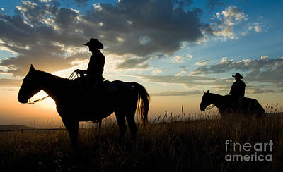 Photograph - Cowboys by John Shaw