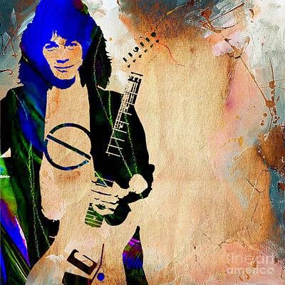 Eddie Van Halen Collection Art Print by Marvin Blaine