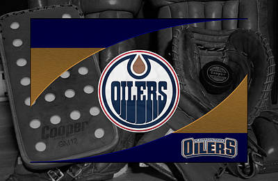 Skate Photograph - Edmonton Oilers by Joe Hamilton