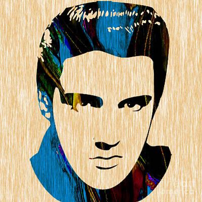 King Mixed Media - Elvis Presley by Marvin Blaine
