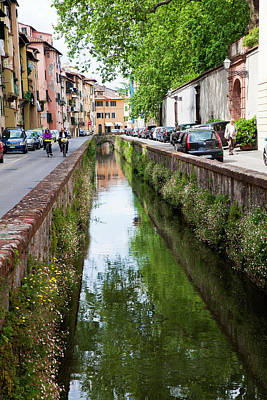 Lucca Photograph - Europe, Italy, Lucca by Terry Eggers