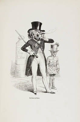 French Caricature Art Print by British Library