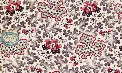 Antique Look Drawing - French Fabrics First Half Of The Nineteenth Century 1800 by Litz Collection