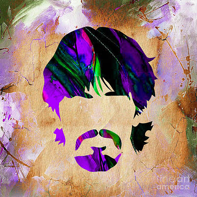 Beatles Mixed Media - George Harrison Collection by Marvin Blaine