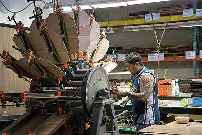 Hand Crafted Photograph - Guitar Factory by Jim West