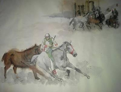 Italian Il Palio Horse Race Album Art Print by Debbi Saccomanno Chan