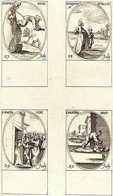 Martha Drawing - Jacques Callot, French 1592-1635 by Litz Collection