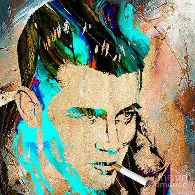 Movie Star Mixed Media - James Dean Collection by Marvin Blaine