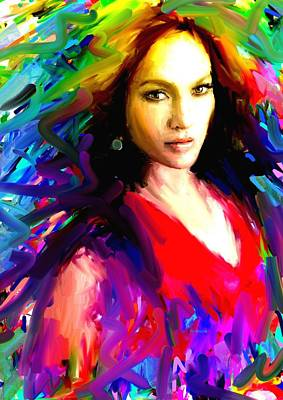 Jennifer Lopez Art Print