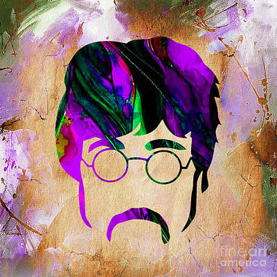 Musicians Mixed Media - John Lennon Collection by Marvin Blaine