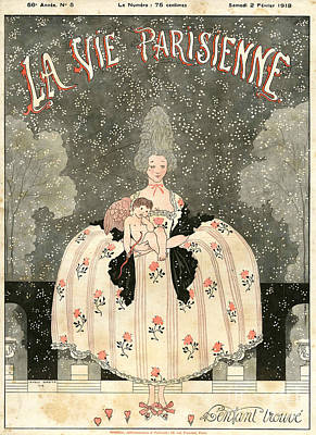Nineteen-tens Drawing - La Vie Parisienne 1918 1910s France by The Advertising Archives