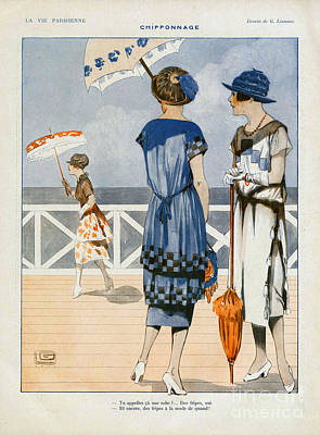 Nineteen-tens Drawing - La Vie Parisienne  1919 1910s France Cc by The Advertising Archives