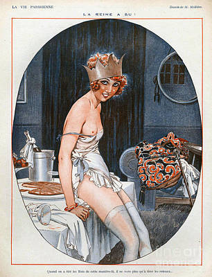 Vintage Drawing - La Vie Parisienne  1926 1920s France Cc by The Advertising Archives