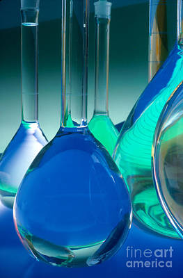 Photograph - Laboratory Glassware by Charlotte Raymond