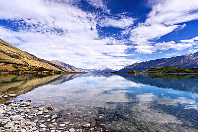 Lake Wakatipu In New Zealand Original by Dr K X Xhori