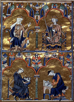 Scribe Painting - Louis Ix (1214-1270) by Granger