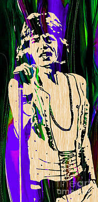 Mick Mixed Media - Mick Jagger Of The Rolling Stones Painting by Marvin Blaine