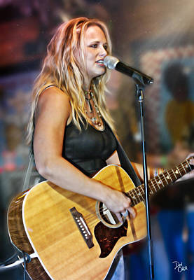 Epiphone Guitars Photograph - Miranda Lambert by Don Olea