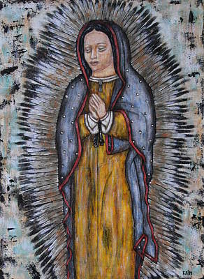 Folk Art Mixed Media - Our Lady Of Guadalupe by Rain Ririn