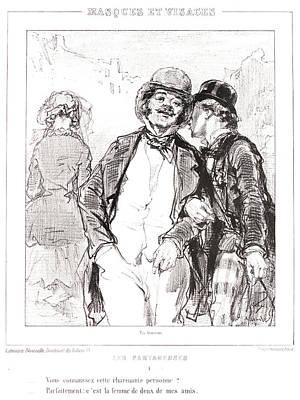 Paul Gavarni Aka Hippolyte-guillaume-sulpice Chevalier Art Print by Litz Collection