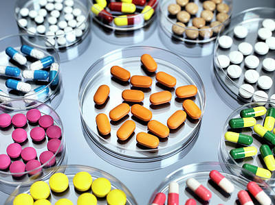 Pill Photograph - Pharmaceutical Research by Tek Image