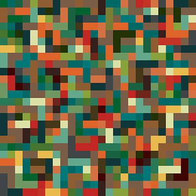 Pixel Art Art Print
