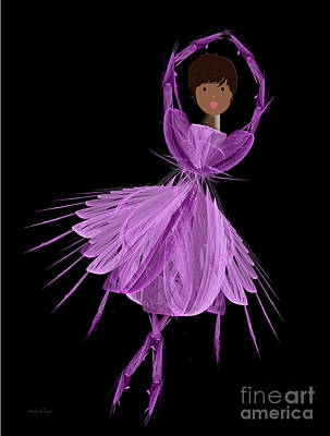 Digital Art - 11 Purple Ballerina by Andee Design