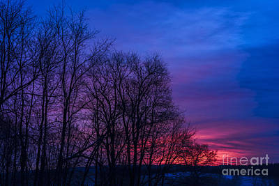 Red Sky At Morning Art Print by Thomas R Fletcher