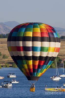 Steven Krull Royalty-Free and Rights-Managed Images - Rocky Mountain Balloon Festival by Steven Krull