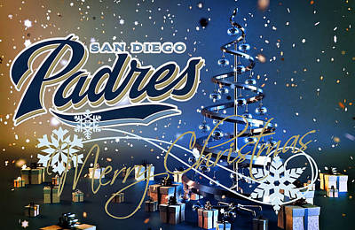 San Diego Padres Art Print by Joe Hamilton