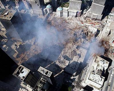 Ground Zero Photograph - 11 September Aftermath by Us Navy/eric J. Tilford