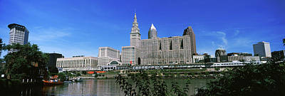 Photograph - Skyscrapers In A City, Cleveland, Ohio by Panoramic Images