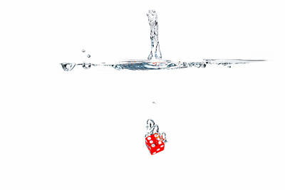 Photograph - Splashing Dice by Peter Lakomy