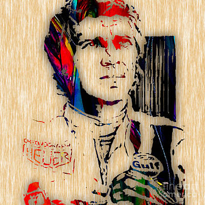 Steve Mcqueen Collection Print by Marvin Blaine