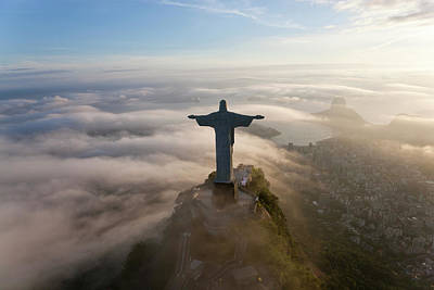 Brazil Photograph - The Art Deco Statue Of Jesus, Known by Peter Adams