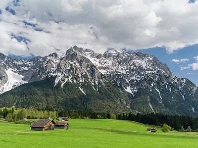 The Karwendel Mountain Range Art Print by Martin Zwick