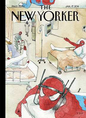 Hospitals Painting - New Yorker January 17th, 2011 by Barry Blitt