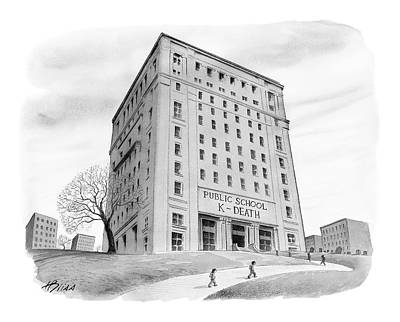 Buidling Drawing - New Yorker September 4th, 2006 by Harry Bliss