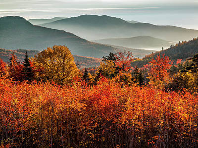 White Mountain National Forest Photograph - Usa, New Hampshire, White Mountains by Ann Collins