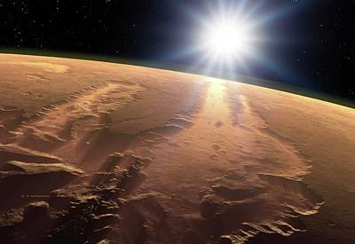 Outer Space Photograph - Valles Marineris by Detlev Van Ravenswaay